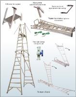 ПСТ-4, ПСТ-5, ПСТ-6. Подмость стеклопластиковая с поручнем, трансформируемая по длине тетивы ПСТ